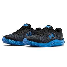 Under Armour Liquify Kids Running Shoes, Black / Blue, rebel_hi-res