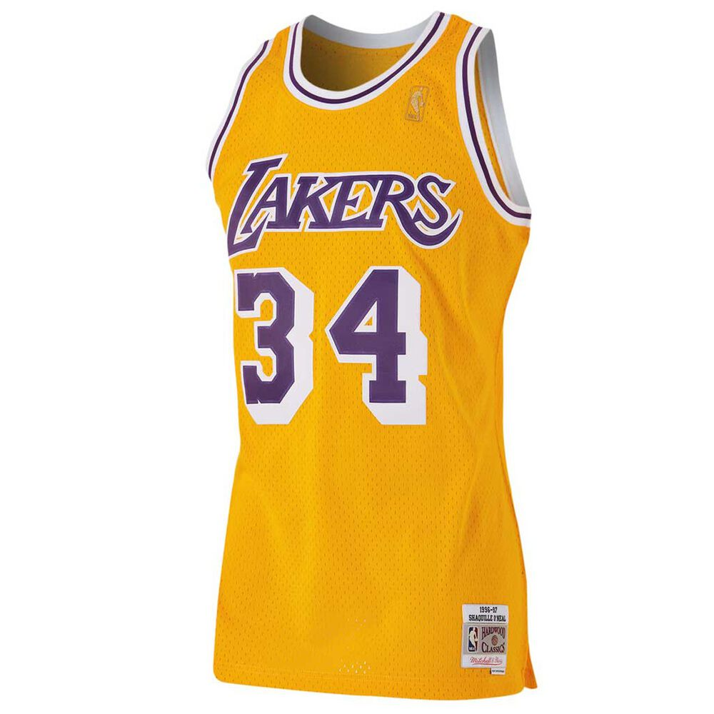 best sneakers c1c15 598a2 Los Angeles Lakers Shaquille ONeal Mens Swingman Jersey S