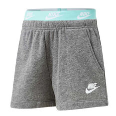 Nike Girls French Terry Shorts, Grey, rebel_hi-res