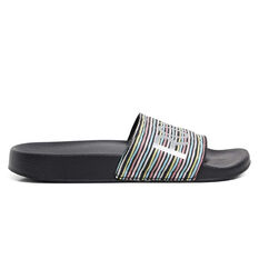 Roxy Slippy Girls Slides Black/Multi US 11, Black/Multi, rebel_hi-res