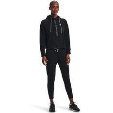 Under Armour Womens UA Rival Fleece Mesh Pants, Black, rebel_hi-res