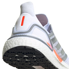 adidas Ultraboost 20 Space Race Womens Running Shoes, White, rebel_hi-res