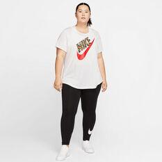 Nike Womens Sportswear Club High-Waisted Tights Plus Black 1X, Black, rebel_hi-res