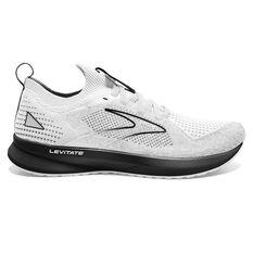 Brooks Levitate StealthFit 5 Mens Running Shoes White/Grey US 6, White/Grey, rebel_hi-res