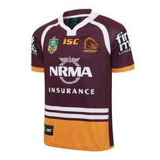 Brisbane Broncos 2017 Mens Home Jersey, , rebel_hi-res
