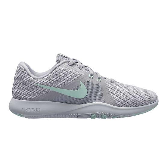 Nike Flex Trainer 8 Womens Training Shoes, Grey / White, rebel_hi-res