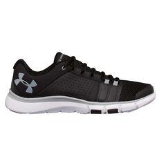 Under Armour Strive 7 Mens Training Shoes Black / White US 7, Black / White, rebel_hi-res
