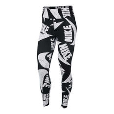 Nike Womens Icon Clash Tights Black / White XS, Black / White, rebel_hi-res