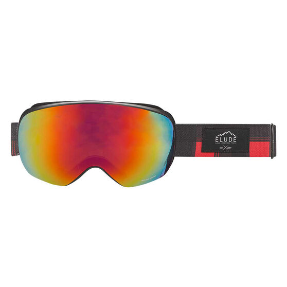 Elude Mens Road Plaid Ski Goggles, , rebel_hi-res