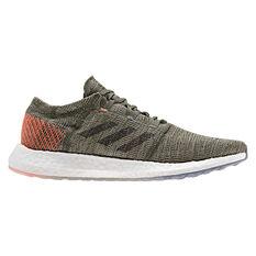 adidas Pureboost GO Mens Running Shoes Green / Black US 7, Green / Black, rebel_hi-res