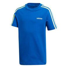 adidas Boys Essentials 3-Stripes Tee Blue/Green 6, , rebel_hi-res