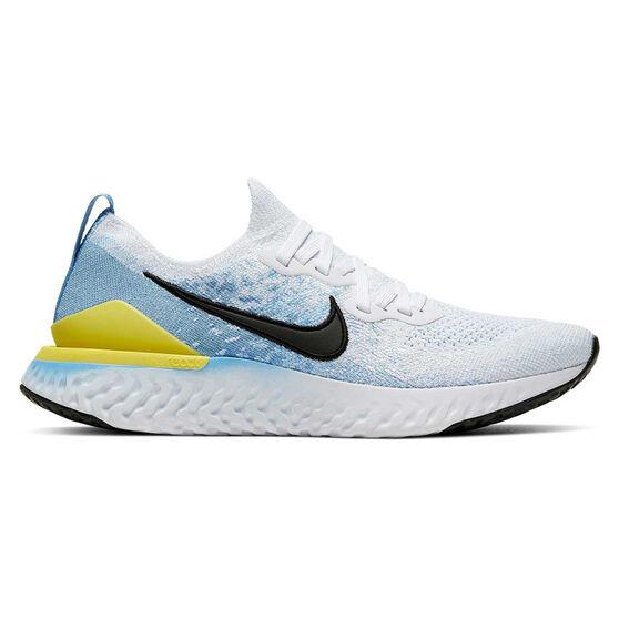 Nike Epic React Flyknit 2 Womens Running Shoes, White / Black, rebel_hi-res
