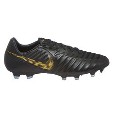 Nike Tiempo Legend VII Pro Mens Football Boots Black / Gold US Mens 7 / Womens 8.5, Black / Gold, rebel_hi-res