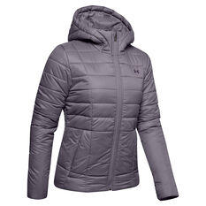 Under Armour Womens Armour Insulated Jacket, Grey, rebel_hi-res