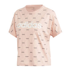 adidas Womens Core Favourites Tee, Pink, rebel_hi-res