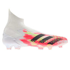 adidas Predator 20+ Football Boots White US Mens 5 / Womens 6, White, rebel_hi-res