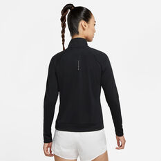 Nike Womens Swoosh Run Running Top Black XS, Black, rebel_hi-res