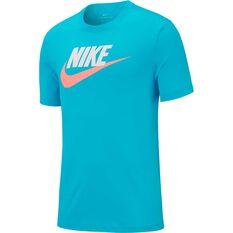 Nike Mens Sportswear Icon Futura Tee, Blue, rebel_hi-res