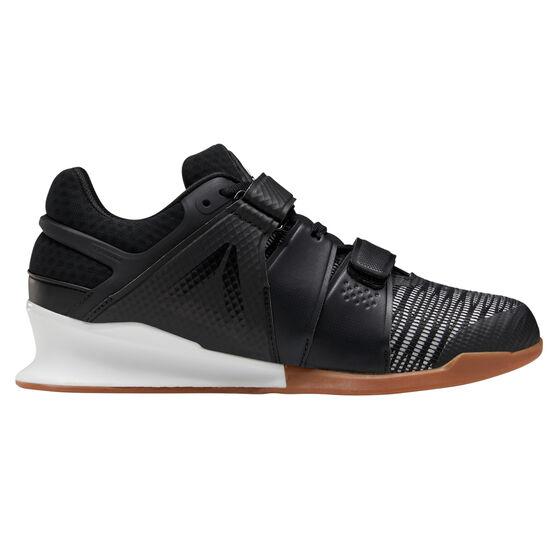 Reebok Legacy Lifter FlexWeave Mens Training Shoes, Black/White, rebel_hi-res