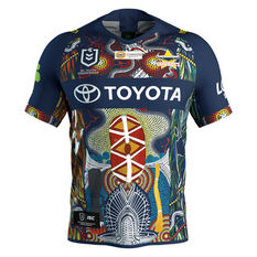 North Queensland Cowboys 2019 Mens Indigenous Jersey Navy S, Navy, rebel_hi-res