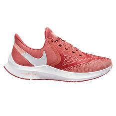 Nike Air Zoom Winflo 6 Womens Running Shoes Pink / White US 6, Pink / White, rebel_hi-res