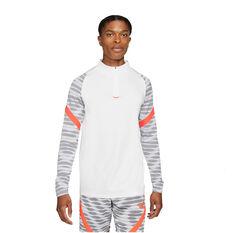 Nike Mens Dri-FIT 1/4 Zip LS Soccer Drill Tee White S, White, rebel_hi-res