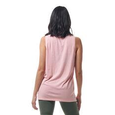 Ell & Voo Womens Taylor Logo Muscle Tank Pink XXS, Pink, rebel_hi-res