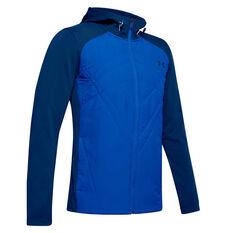 Under Armour Mens ColdGear Sprint Hybrid Jacket Blue S, Blue, rebel_hi-res