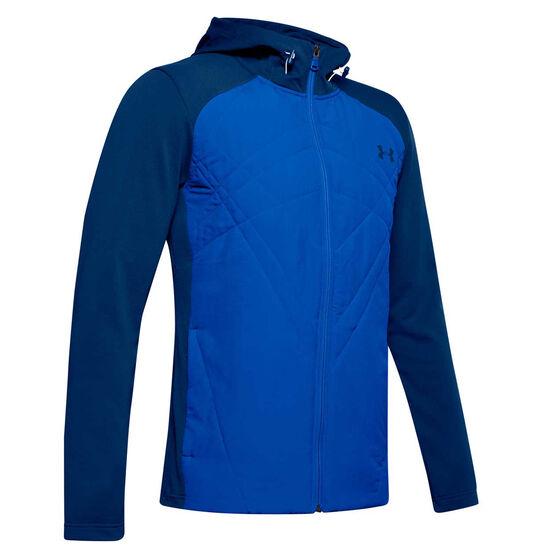 Under Armour Mens ColdGear Sprint Hybrid Jacket, Blue, rebel_hi-res