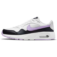 Nike Air Max SC Kids Casual Shoes White/Purple US 4, White/Purple, rebel_hi-res