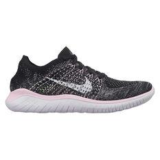 Nike Free RN Flyknit 2018 Womens Running Shoes Black / White US 6, Black / White, rebel_hi-res