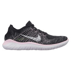 2326146e4a906 Nike Free RN Flyknit 2018 Womens Running Shoes Black   White US 10