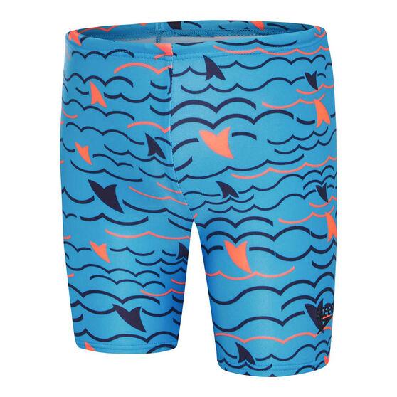 Speedo Boys Leisure Noah Swim Shorts Blue 6, Blue, rebel_hi-res
