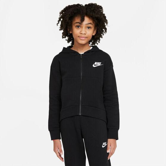 Nike Girls VF NSW Club FZ Hoodie, Black, rebel_hi-res