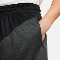 Nike Mens Dri-FIT Basketball Shorts, Black, rebel_hi-res