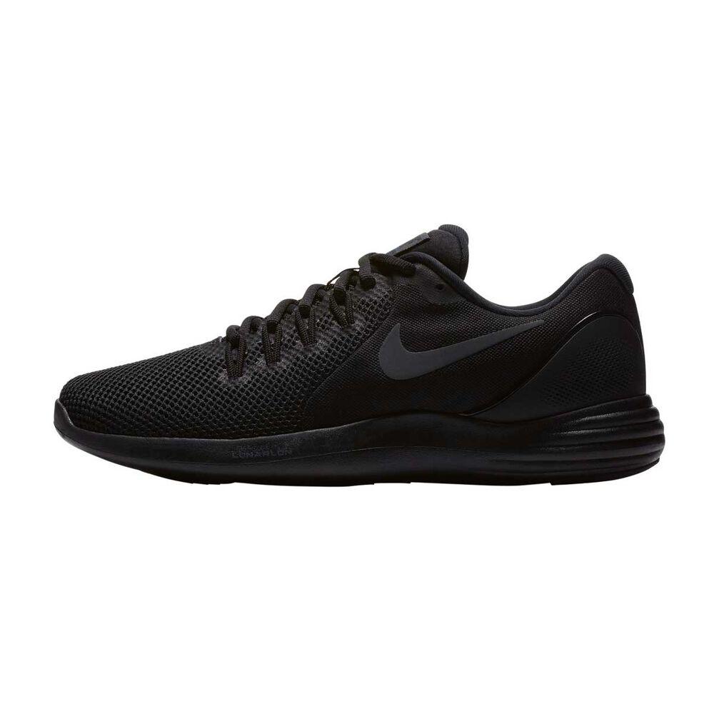 26190e2cf1e1 Nike Lunar Apparent Mens Running Shoes Black   Black US 13