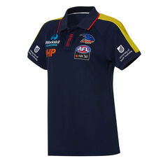 Adelaide Crows AFLW 2020 Womens Media Polo Navy XS, Navy, rebel_hi-res