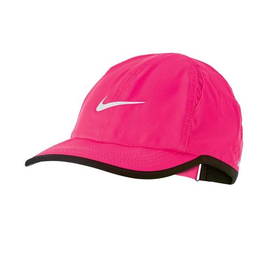 Nike Girls Featherlight Cap Pink OSFA, , rebel_hi-res
