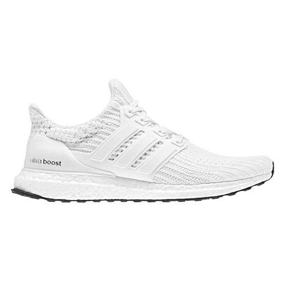 adidas Ultraboost Mens Running Shoes White US 8, White, rebel_hi-res