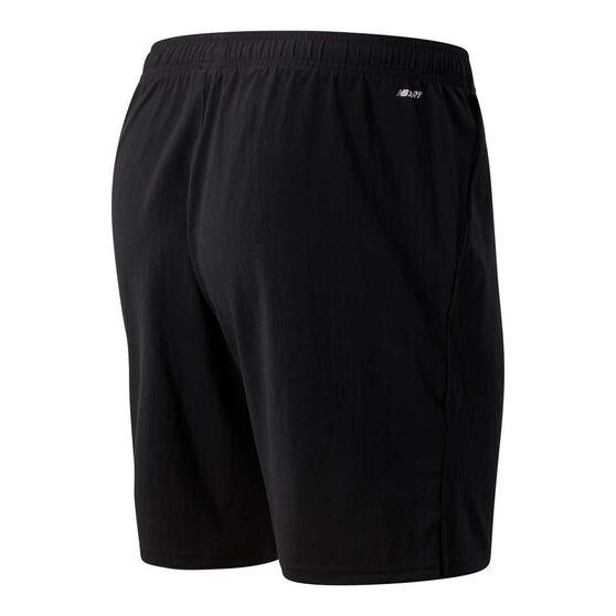 New Balance Mens Sport Woven Shorts, Black, rebel_hi-res