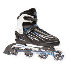 Blade X Softec Vision Kids Skates Black / Blue US 6, Black / Blue, rebel_hi-res