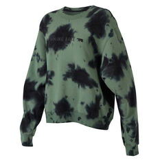 Running Bare Womens Legacy Crew Sweatshirt Green 8, Green, rebel_hi-res