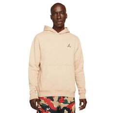Jordan Essentials Mens Fleece Pullover Hoodie Cream S, Cream, rebel_hi-res