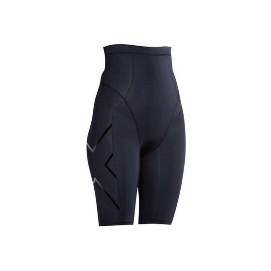 2XU Womens Postnatal Active Shorts, Black / Black, rebel_hi-res