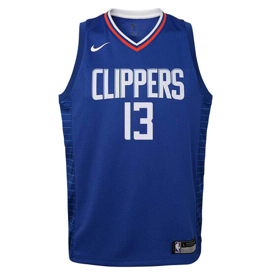 Nike Los Angeles Clippers Paul George 2020/21 Youth Icon Swingman Jersey, Blue, rebel_hi-res