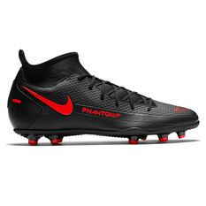 Nike Phantom GT Club Football Boots Black/Red US Mens 7 / Womens 8.5, Black/Red, rebel_hi-res