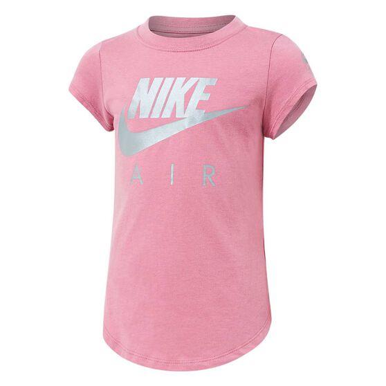 Nike Girls Futura Air Tee, Pink / White, rebel_hi-res