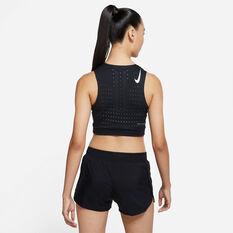 Nike Womens AeroSwift Crop Black XS, Black, rebel_hi-res