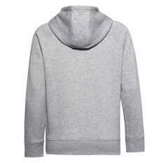 Under Armour Womens Rival Fleece HB Hoodie Grey XS, Grey, rebel_hi-res