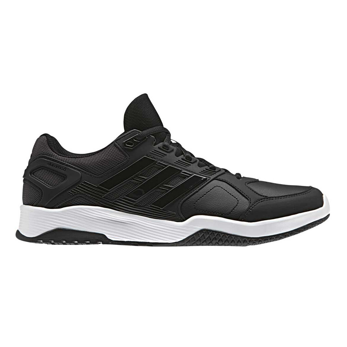 detailed look 73626 7d5ee low price adidas duramo 8 mens training shoes black white us 9.5 black white  143c4 a1651